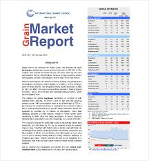 Marketing Report Template 23 Free Sample Example Format