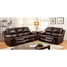 Motion Living Room Furniture Furniture Of America Davenport Motion Livingroom Set In Rustic
