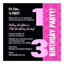 free 13th birthday invitations 13th birthday party invitations and free printable birthday