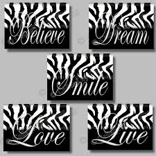 zebra print wall decor