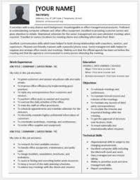 Administration Resumes Junior Economist Resume Templates For Ms Word Resume Templates