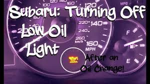 Blue Oil Light Subaru