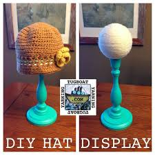 DIY Hat Display. Costs $12-15 each to make, depending on what you