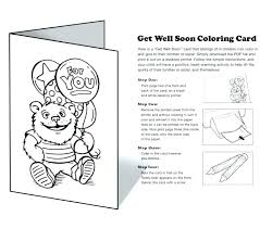 Get Well Coloring Cards Astonishing Printable Ng Pages Soon New For