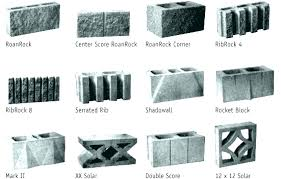 various concrete decorative wall blocks interior