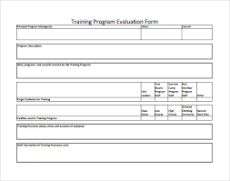 15+ Sample Training Evaluation Forms – Pdf | Sample Templates