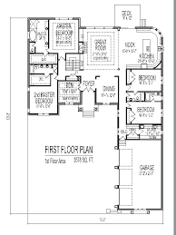 5 bedroom house plans 1 story 4 bedroom house plans magnificent 5 bedroom 1 story floor plans enjoyable design 4 5 bedroom home design ideas for small