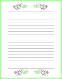 Lined Paper Pdf Inspiration Lined Writing Paper Template Pdf Butterflies Free Printable