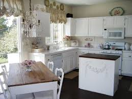 White Stained Wood Kitchen Cabinets Country Kitchen Cabinets White Kitchen Country White Kitchen White