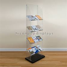 Acrylic Book Display Stands New Book Retail Store Fixtures Clear Acrylic Floor Display Stand With