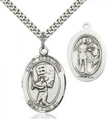 st sebastian baseball medal sterling silver