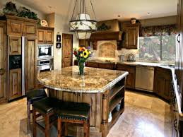 Wood Tile Floor Kitchen Kitchen Brown Hanging Lamp Brown Wood Kitchen Table Brown Tile