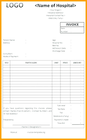 Hospital Invoice Sample Or Die Bill Template Of Receipt Samples Form ...
