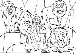 Small Picture Daniel and Four Lions in Daniel and the Lions Den Coloring Page