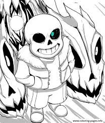 Print Cool Undertale By Aoshi7 Coloring Pages Sans Coloring