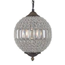 collins collection 1 light antique black chandelier with crystal shade