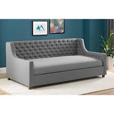 upholstered day bed. Unique Upholstered Jordyn Upholstered Daybed Twin Grey Linen Inside Day Bed R
