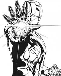 Small Picture Cool Iron Man Using His Repulsor Coloring Page Free Superheroes
