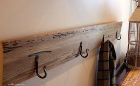 Wall Coat Rack Cool Picture Of Rectangular Solid Oak Wood Iron DIY Wall Coat Rack 55