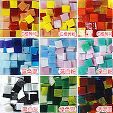 mixed color translucent mica glass diy mosaic handmade material mosaic tiles stained glass czl8599