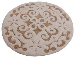 saffron fabs bath rug cotton 36 inch round 200 gsf damask pattern contemporary bath mats by saffron fabs