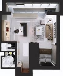 Small Studio Apartment Design With Folk Motifs Poland 33 Sq Small Studio Apartment Design