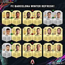 Austorfifa - FIFA 21 FC BARCELONA WINTER RATING REFRESH...