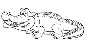 Crocodile Coloring Pages Unmap