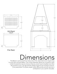 dimensions and blueprint for the design