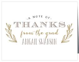 Graduation Thank You Note Graduation Thank You Cards Match Your Color Style Free