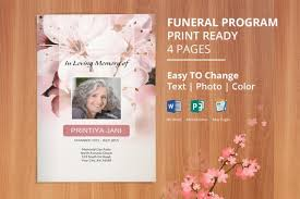Microsoft Publisher Program Template Funeral Program Template Memorial Obituary Template