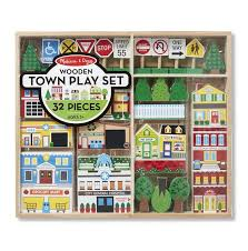 Melissa And Doug Wooden Games Awesome Wooden Town Play Set Melissa And Doug