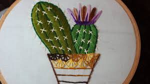 Cactus Embroidery Pattern Interesting Decorating Design