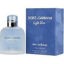 Dolce And Gabbana Light Blue Intense Eau De Toilette D G Light Blue Eau Intense Eau De Parfum Spray 1 6 Oz