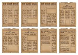 Old Newspaper Article Template Old Newspaper Template Vector Set Download Free Vector Art Stock