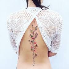 цветочный принт на коже идеи для женской татуировки досуг Ivona