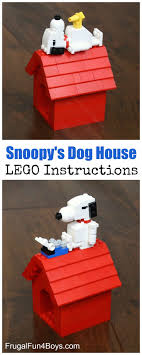 LEGO Building Instructions  Make Snoopy and his doghouse, and there is  even a Woodstock