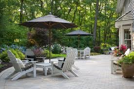 brick paver patio white adirondack chairs paver patio small s landscaping inc valparaiso