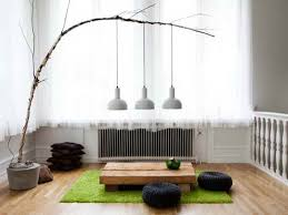 diy japanese furniture. Scandinavian Living Room With Japanese Style Furniture Diy Branch Pendant Light Interior Design Ideas Creative Round Knitted Floor Cushion A