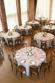 Round Table Settings For Weddings Rustic Elegant New York Wedding Reception Centerpieces