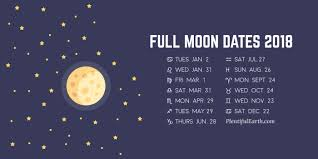Moon Chart October 2018 What Date Is The Full Moon
