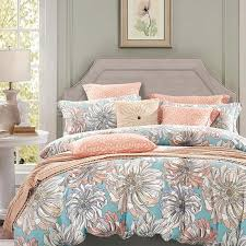 excellent peach grey and sky blue vintage fl bedding french country vintage bedding sets decor