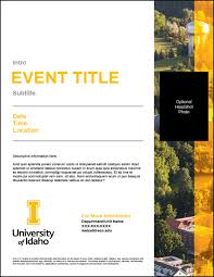 Basic Flyer Template Flyers Templates U Of I Brand Resource Center