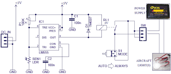 smart switch for model aircraft lights smart switch circuit