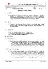 Method Of Statement Sample Method statement painting 20