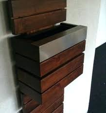 wooden mailbox designs. Custom Wood Mailboxes Wooden Mailbox Integrated Right Into The Home Design Plans . Designs