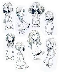 Little Girl Picture Drawing Drawing Skill