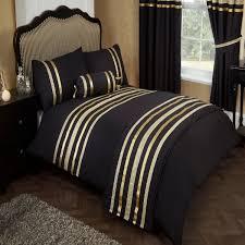 glitz black gold trim ribbon super king size bed duvet quilt cover