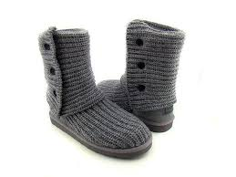 Cheap Women UGG Classic Cardy Boots Gray 5819