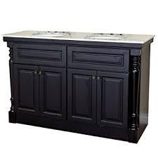 55 inch double sink bathroom vanity: bellaterra home a  inch double sink vanity dark mahogany